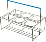 Carlisle CW6C38 OptiClean Heavy Gauge Steel Wire 6-Compartment Portable Carrier, 15.51'' L x 10.12'' W x 11-1/4'' H, Chrome (Case of 6)