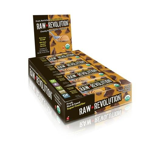 2 Packs of Raw Revolution Bar - Organic - Super Food - Chnk Pbt Choc - 1.6 Oz - 1 Case by Raw Revolution