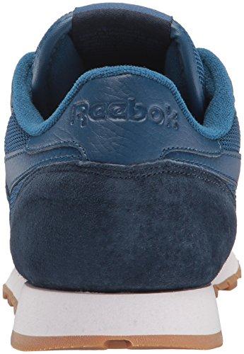 Reebok Delle Donne In Pelle Cl Spp Moda Sneaker Nobile Blu / Navy Collegiale