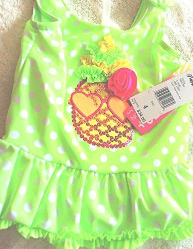 Flapdoodles , 2 Piece Girls Swim Suit, Size 5, Lime Light Color ()
