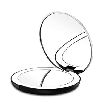 Gotofine LED Lighted Travel Makeup Mirror  1X   7X Magnification   Double  Sided  Luxury. Amazon com   Gotofine LED Lighted Travel Makeup Mirror  1X   7X