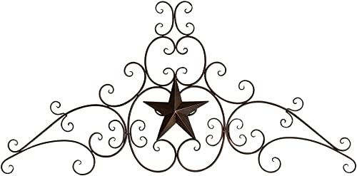 BLACK FOREST DECOR Metal Star Scroll Wall Hanging