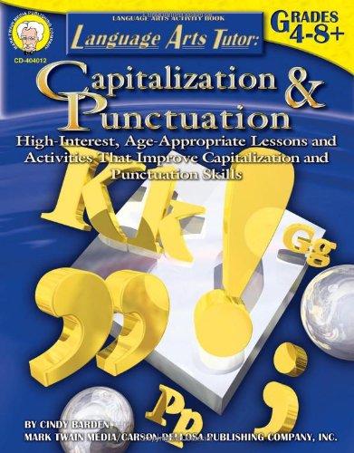 Language Arts Tutor: Capitalization and Punctuation, Grades 4 - 12 (Tutor (Capitalization And Punctuation)