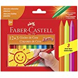 Gizão de Cera 15 Cores, Faber-Castell, HT141115, Multicor