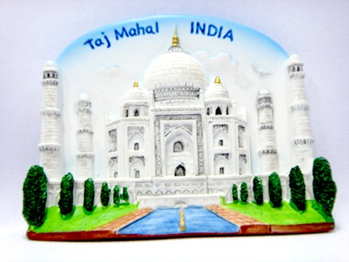 Souvenir Collectibles Fridge Magnet Magnetic Cute Charm Gift TAJ Mahal India Hand Sculpting and Hand Painting 3d