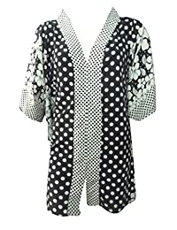 Sunrose polka dot printed black and white cover up