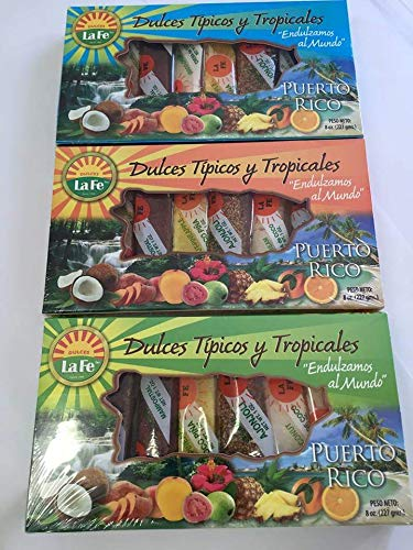 Amazon.com : Assortment of Puerto Rican Candies By Fabrica De Dulces La Fe (8 Pieces) 1 Oz Each : Other Products : Everything Else