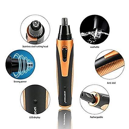 Recortador de nariz,vello,cejas y orejas, 4 en 1 Grooming Kit Serie,recargable: Amazon.es: Electrónica