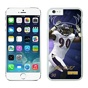 Baltimore Ravens Pernell McPhee iPhone 6 Cases 01 White 4.7 inches63467_53538 by kobestar