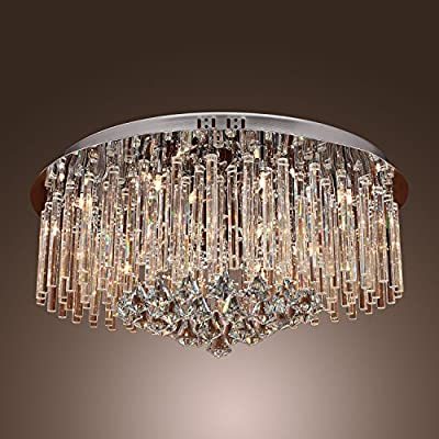 Lightinthebox 240W Crystal Flush Mount with 18 Lights in Round Ceiling Lights Fixture Chandelier Lamp (G4 Bulb Base)