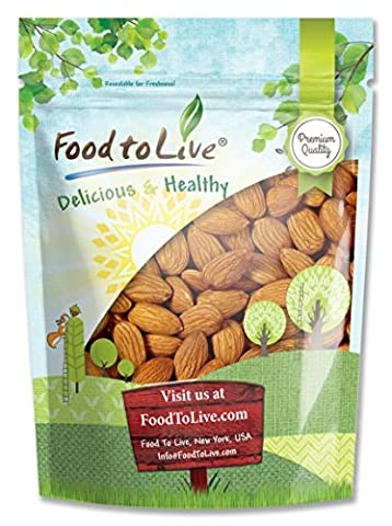 Food to Live Almonds (Whole, Raw, Shelled, Unsalted) (8 Ounces) - Buttery Almond