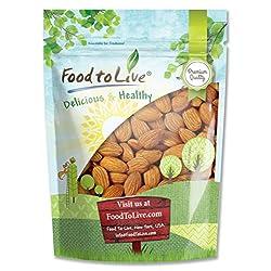 California Almonds, 1 Pound – Supreme, Whole, Raw, Unsalted, Unroasted Nuts, Natural. Kosher, Vegan. Keto, Paleo, Low…