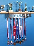 metal and trophy display shelf - Football Trophy Shelf and Medal Display