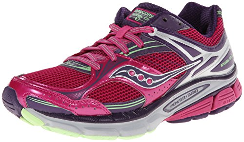 Saucony Women's Stabil CS3 Running Shoe,Berry/Green,5 W US