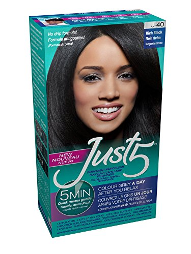 Just 5 Women's Hair Color, Rich Black - Five Color Natural
