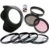 52mm Multi-Coated 7 Piece Filter Set Includes 3 PC Filter Kit (UV-CPL-FLD-) And 4 PC Close Up Filter Set (+1+2+4+10) For Nikon 18-55mm Dx VR Lens + Hard Tulip Lens Hood+ Cap Keeper + MicroFiber Cleaning Cloth + LCD Screen Protectors