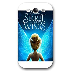 UniqueBox Customized Disney Series Phone Case for Samsung Galaxy S3, Lovely Cartoon Tinker Bell Samsung Galaxy S3 Case, Only Fit for Samsung Galaxy S3 (White Frosted Shell)