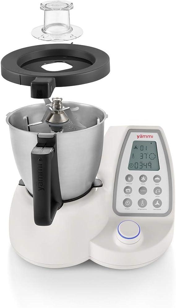 Yämmi Robot de Cocina Multifunción, Capacidad Bruta de 3.3L, 11 Funciones, Incluye 9 Accesorios, Potencia 1500 W, Motor 500 W, Libro de Recetas en Español: Amazon.es: Hogar