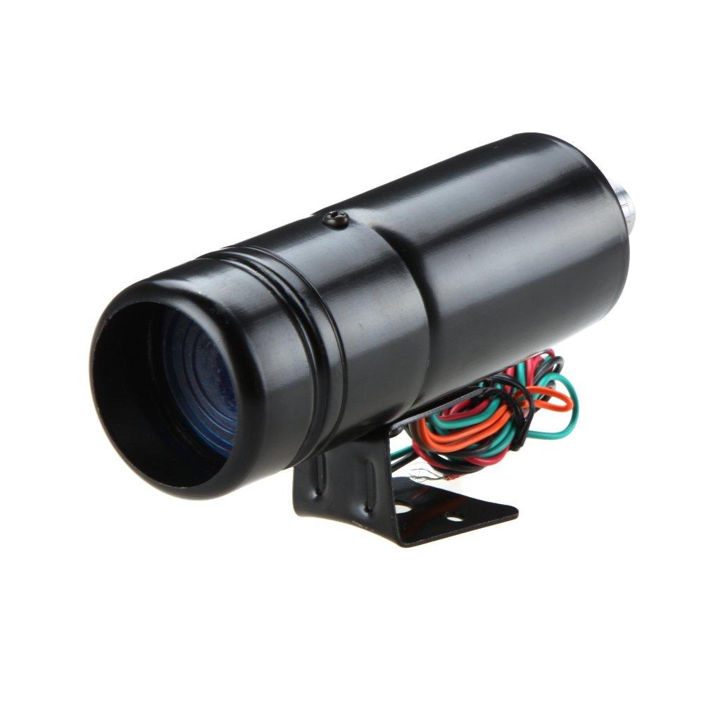 KKmoon Tachymè tre ajustable 1K - 11K t/min Tacho jauge aluminium Maj lumineux LED bleu/rouge noire Surface de lumiè re
