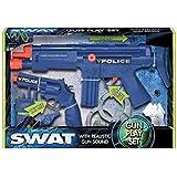 PMS B/OP POLICE GUN SET W/IC HAND GUN + IC MACHINE GUN W/ACC