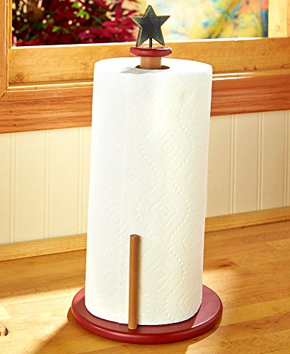 - The Lakeside Collection Rustic Star & Berry Paper Towel Holder