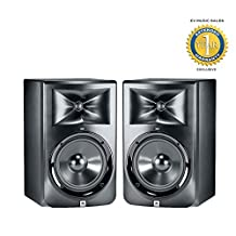 "JBL LSR308 8"" Two-Way Powered Studio Monitor (Pair) with 1 Year Free Extended Warranty"