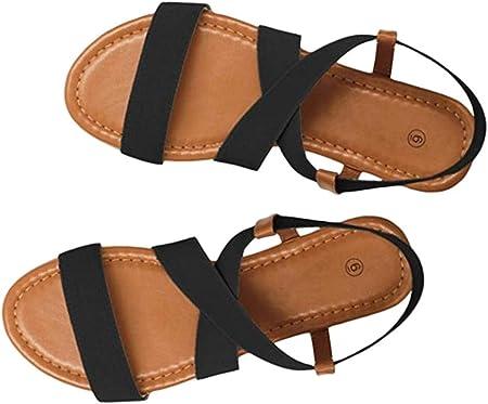 Sandalias para Mujer Verano Romanas2019 PAOLIAN Zapatos de Fiesta Mujer Elegantes Grandes Calzado de Vestir Plano Playa Primavera Dama Escuela 35-41 EU