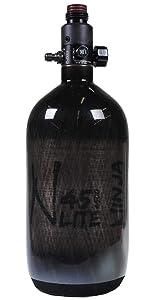 Ninja Paintball Carbon Fiber AIR Tank 45/4500 Translucent Black - STD