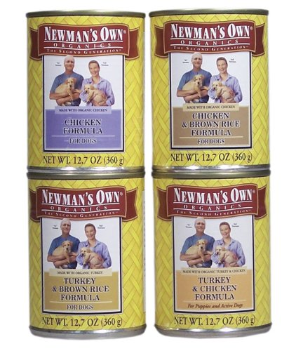 Dog Canned Formula - Newman's Own Formula For Dogs Chicken and Brown Rice -- 12.7 oz