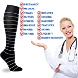 6 Pairs Compression Socks for Men and Women 20-30