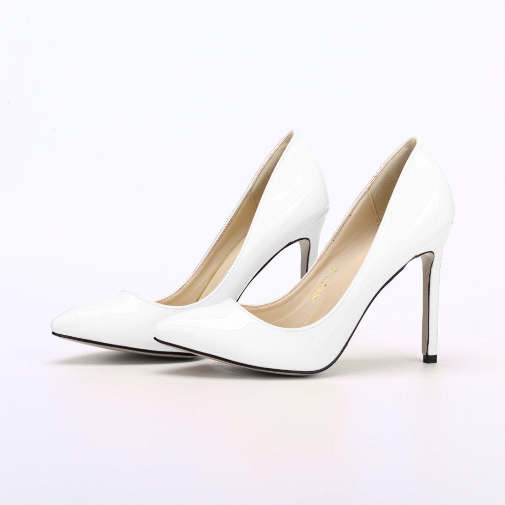 76252e66c1e de Zapatos Tacón de 11CM Mujer Punta Ochenta Aguja Puntiagudo RqOPwSxtn