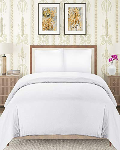 (Utopia Bedding 3 Piece Queen Duvet Cover Set with 2 Pillow Shams, (Queen White))