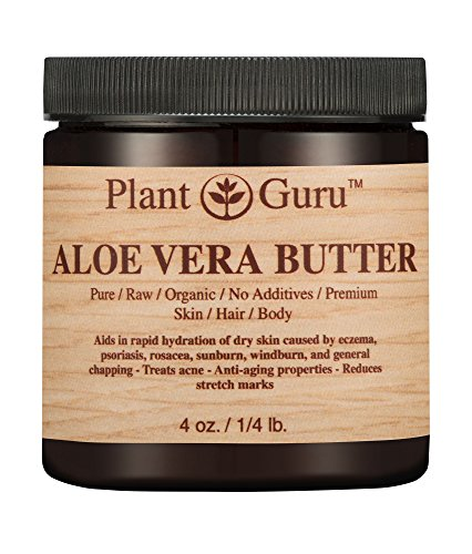 Aloe Vera Body Butter 100% Pure Raw Fresh Natural Cold Pressed. Skin, Hair, Nail Moisturizer, DIY Creams, Balms, Lotions, Soaps.