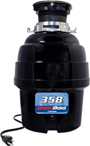 Waste Maid Garbage Disposal, 1/2 HP Heavy Duty, Black