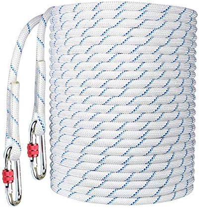 MEI XUクライミングロープ エアコン安全ロープの取り付け高所安全ロープ耐摩耗性屋外空中作業落下防止壁作業保護ロープ、2色、2スタイル、7サイズ (Color : B16mm, Size : 80M)
