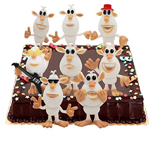 8PCS TV Booba Cake Toppers Cupcake Topper Kids Birthday Party Supplies Action Figure Toys (Best Toy Actions)