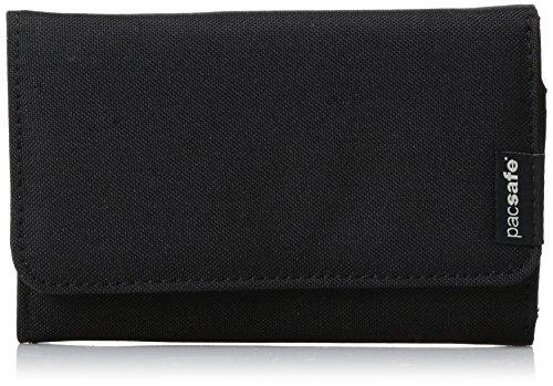 Pacsafe RFIDsafe LX100 Anti-Theft RFID Blocking Wallet, Black