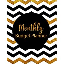 Monthly Budget Planner: Gold Style Weekly Expense Tracker Bill Organizer Notebook Business Money Personal Finance Journal Planning Workbook size 8.5x11 Inches