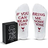"Funny Wine Socks With Gift Box ""If You Can Read This Bring Me Some Wine"" Phrase 