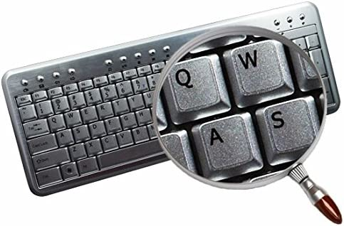 English UK Notebook Non-Transparent Silver Keyboard Stickers