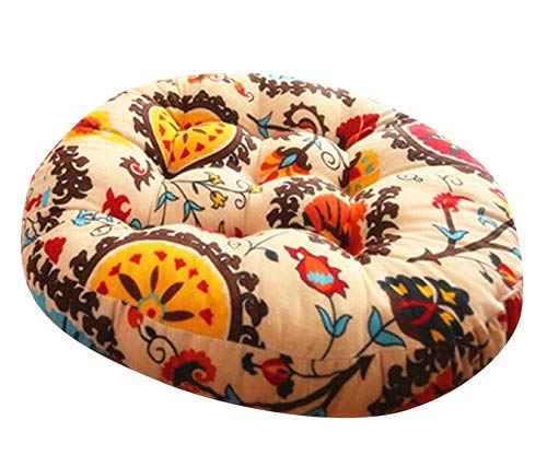 zhengjun Meditation Cushion Poufs Floor Cushion Seating Pad Floor Pillow Meditation Pillow Bohemia Round Cushion 22