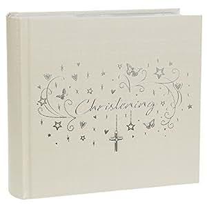 "Shudehill 6x4"" Hearts & Stars Christening Photo Album - Store Those Treasured Photographs (72571) by Shudehill"