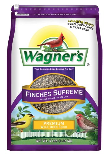 Wagner's 62068 Finches Supreme Blend, 5-Pound Bag (Seed Avian Finch Bird)