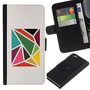 EJOY---La carpeta del tirón la caja de cuero de alta calidad de la PU Caso protector / Apple Iphone 6 / --Modelo abstracto minimalista