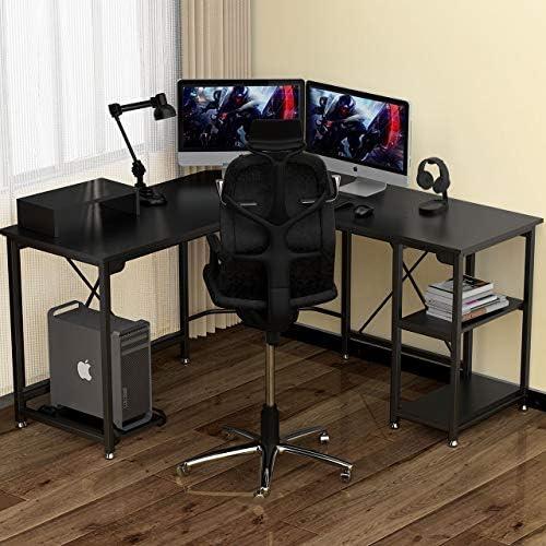 GIKPAL L-Shaped Desk Computer Corner Desk,54 inch Home Gaming Desk