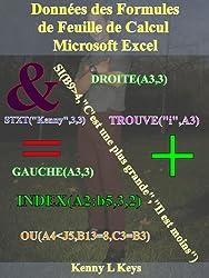Données des Formules de Feuille de Calcul Microsoft Excel