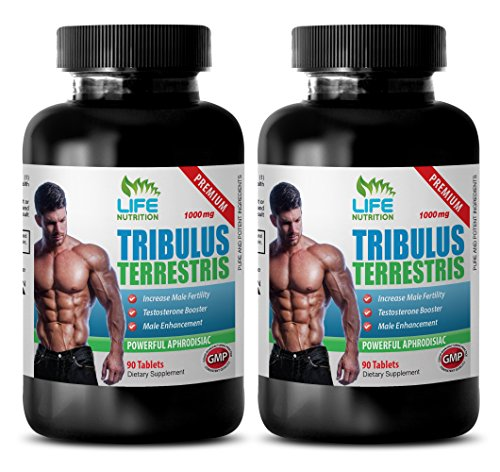 Male enhancing pills increase size and length - TRIBULUS TERRESTRIS EXTRACT 1000Mg - Tribulus terrestris extract 1000mg - 2 Bottles 180 Tablets by LIFE NUTRITION