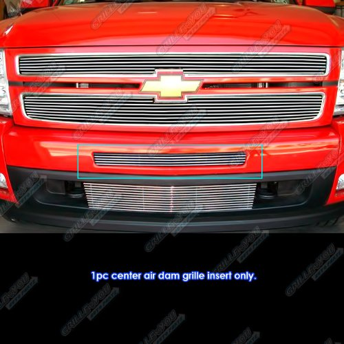 (Compatible with 2007-2013 Chevy Silverado 1500/2007-2010 2500/3500 Air Dam Billet Grille Grill #S18-A57756C )