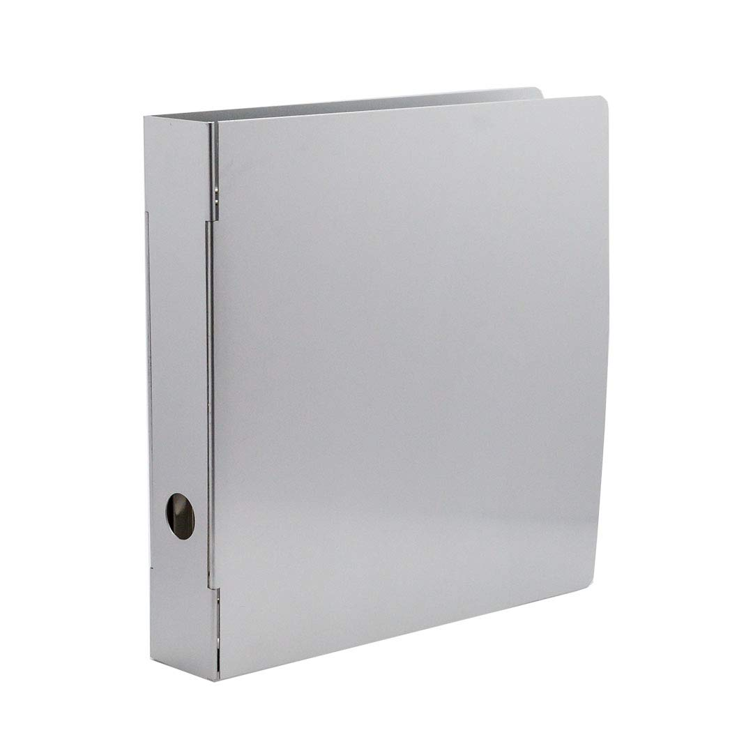 Bindertek 3-Ring 4-Inch Heavy Duty Metal Binder, Silver (MTBIND-XL)