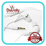 Duisah Samsung Galaxy A9 Pro YR in Ear Earphones Ultra Bass Headset with 3.5 MM Jack & Mic-White